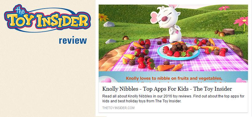 The Toy Insider review of the Knolly Nibbles app